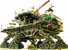 LEGO Crawler town by DeGobbi, via Flickr