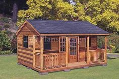 16 x 20 Cottage Shed Plans