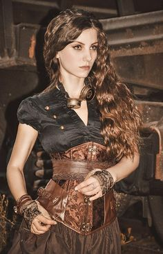Steampunk look https://www.steampunkartifacts.com/collections/steampunk-glasses