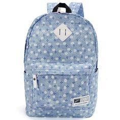 Women Casual Flower Large Capacity Backpack Shoulder Bags School Bags