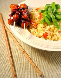 gemarineerde kip met rijst