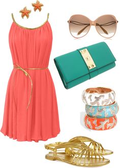 """""""Coral Reef"""" by chanellovver on Polyvore"""