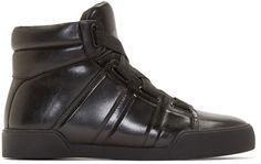 3.1 Phillip Lim - Black Leather Morgan High Top Sneakers