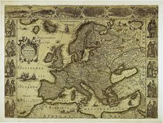 Map of Europe Antique world maps ancient maps by mapsandposters, $9.99