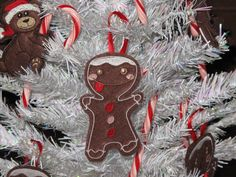 Felt Gingerbread Christmas Ornament