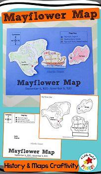Mayflower Map: Thanksgiving History Craft Activity