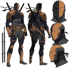Deathstroke aka Slade Wilson as he appeared in Teen Titans: Judas Contract, For this movie I updated the costume and gear that I originally designed for him in Son Of Batman. I love drawing this guy! Dc Deathstroke, Deathstroke The Terminator, Character Modeling, Comic Character, Slade Teen Titans, Teen Titans Judas Contract, Dc Animated Series, Comic Books Art, Comic Art