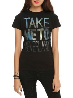 Disney Peter Pan Take Me To Neverland Girls T-Shirt