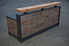 Reclaimed reception desk by buschdesign on Etsy, $3950.00