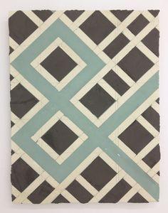 "Elise Ferguson, AMPERSAND, 2012, Pigmented plaster, pencil, mdf panel, 24"" x 18"" via Halsey McKay Galley"