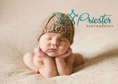 cable knit hat and baby... ok the baby's not cable knit but the hat is