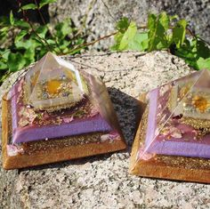These abundance orgonite pyramids are now available in our shop 💜✨ I used…