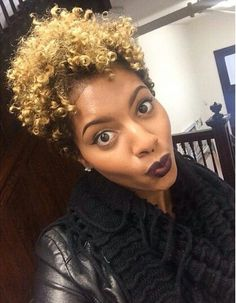 22 Cute Curly and Natural Short Hairstyles For Black Women