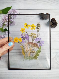 Decor herbarium frame flower art mom gift from daughter for Gallery Wall Frames, Frames On Wall, Framed Wall Art, Wall Collage, Collage Ideas, Gallery Walls, Family Tree Photo, Family Photos, Picture Frame Decor