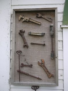 Neat way to display antique tools