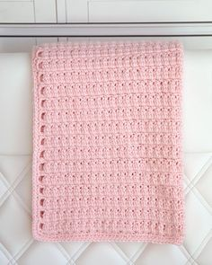 If you're looking for a fun, quick project then you'll love making this baby blanket. I designed it to be crocheted with a large hook and bulky weight yarn to build up super fast for those of you who
