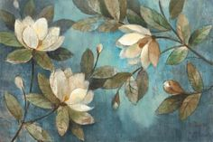 Floating Magnolias Art Print by Albena Hristova at Art.com