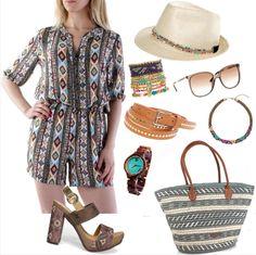 Na pláž v overale Straw Bag, Polyvore, Bags, Fashion, Purses, Fashion Styles, Totes, Lv Bags, Hand Bags