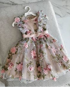Garden Flower Girl Dresses for Wedding sold by dressydances on Storenvy - Baby Girl Dress - Ideas of Baby Girl Dress Baby Girl Frocks, Frocks For Girls, Little Girl Dresses, Dresses For Babies, Cute Baby Dresses, Girls Dresses, Kids Dress Wear, Kids Gown, Children Dress