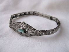 1920s Esemco Sterling Silver Filigree Bracelet by SouvenirSouvenir, $198.00