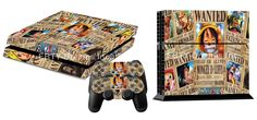 EBTY-Dreams Inc. - Sony Playstation 4 (PS4) - One Piece Anime Straw Hat Pirates Luffy Ace Sabo Zoro Nami Robin Usopp Sanji Chopper Franky Brook Vinyl Skin Sticker Decal Protector