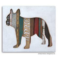 Französische Bulldogge Silhouette von dolangeiman auf Etsy