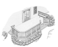 Eplans Deck Plan - Casual Comfort Out-of-Doors from Eplans - House Plan Code HWEPL74908