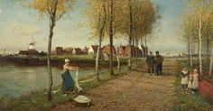 A Dead City of the Zuider Zee, Holland (The Town of Doorn, North Holland) by George Henry Boughton