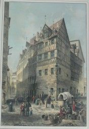 Alte Grafik von Nürnberg