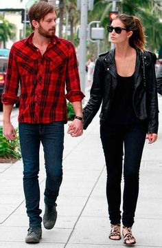 lily-aldridge-caleb-followill-street-style-leather-jacket