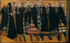 Anonymous Castile,Плачущие, ок 1295, 54,7 cm x 87,2 cm, Пергамент на дереве, темпера