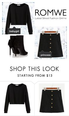 """ROMWE"" by iastag ❤ liked on Polyvore featuring Yves Saint Laurent"