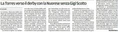 SCRIVOQUANDOVOGLIO: LA TORRES VERSO IL DERBY CON LA NUORESE SENZA GIGI...