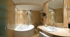 Bathroom in a deluxe room