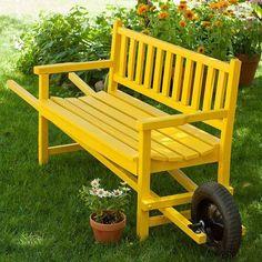 Unieke DIY's voor in je tuin. Maak zelf je verrijdbare tuinbank!