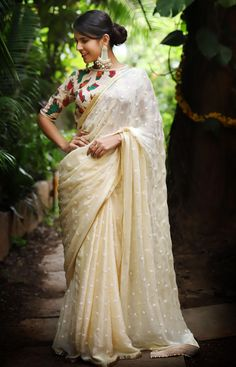 303e5769ce6c81 Ready to shop blouses | House Of Blouse Boat Neck Saree Blouse, Net Saree  Blouse