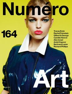 Daphne Groeneveld Covers Numero Magazine's Art Issue, June/July 2015 | Photographer Greg Kadel