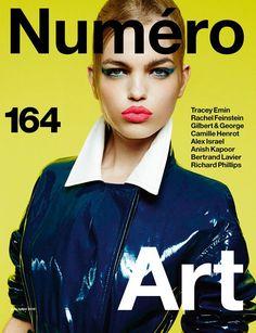 Daphne Groeneveld Covers Numero Magazine's Art Issue, June/July 2015 | Photographer Greg Kadel