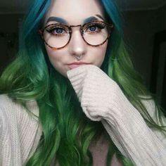 Beautiful girl with original hair and makeup