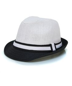 07eb20b0d1b Love this Black  amp  White Color Block Fedora by Magid on  zulily!