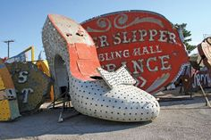 Neon Museum, Las Vegas. Really?! How perfect is this? Maybe make postcards or playing cards with such pics on them as favors???