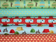 Roughing It quilt or craft fabric bundle by Laurie Wisbrun for Robert Kaufman- Yard Bundle, 5 total. $47.50, via Etsy.