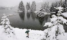 Heidsee Lake in Switzerland