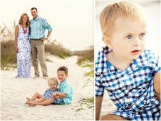 Nice blues and greens for family pictures on the beach. Hilton Head Island, SC. Bluffton's Best Family Photographer 2012-2014.