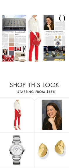 """""""Untitled #3007"""" by duchessq ❤ liked on Polyvore featuring Vanity Fair, Nicholas Kirkwood, Chopard and Marc Fisher LTD"""