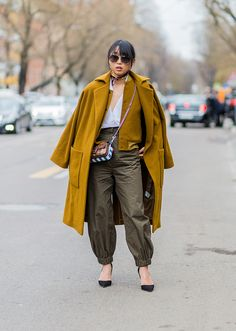 Margaret Zhang, street style at  Milan Fashion Week, Fall 2016 in March 2016. Photo: Getty