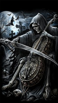 grim reaper wallpaper hd, ALSO. This would've been even better if Death were playing the worlds smallest violin, you know, for the drama of life. Fantasy Kunst, Dark Fantasy Art, Dark Art, Grim Reaper Art, Don't Fear The Reaper, Dark Gothic, Gothic Art, Reaper Tattoo, Totenkopf Tattoos
