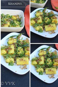 Microwave Khandvi Recipe - Gujarati special these bite sized popular Gujarati rolls are prepared with besan and yogurt.