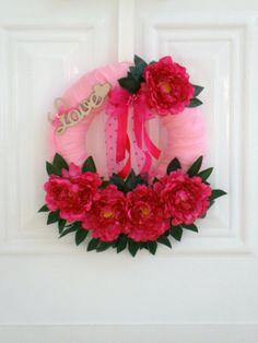 valentines day wreath wedding wreath bridal by creationmoodmarias, €40.00