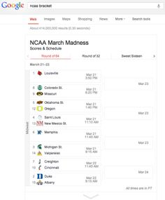 Google Improves Sports-Related Search Results With Interactive League Schedules & More Stats